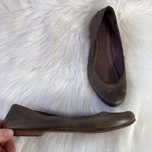 Frye Carson Brown Leather Ballet Flats Size 8.5